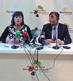 Francina y Biel Barceló en Fitur