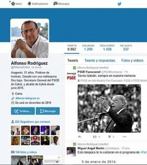 Twitter Alfonso Rodríguez