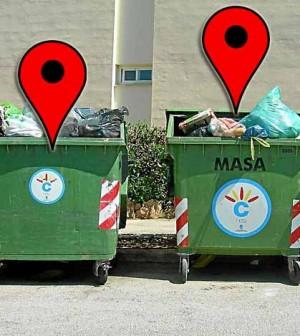 contenedores geolocalizados