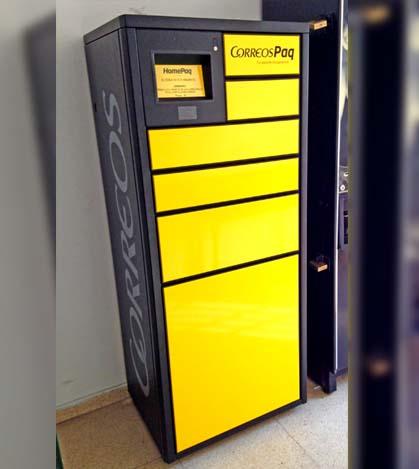 Maquina correos paquetería