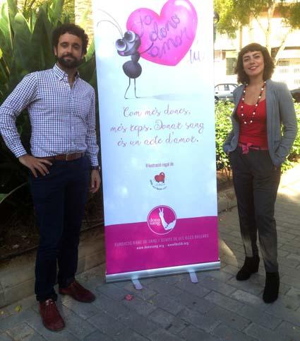 Ismael Gutiérrez y Jimena Puente en la presentación de la campaña