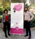 Jimena Puente e Ismael Gutiérrez con la imagen de la campaña