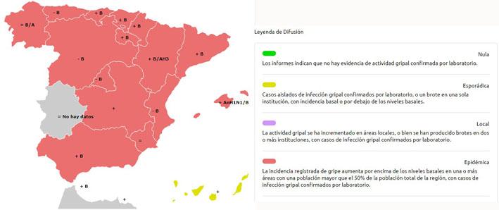 Mapa gripe