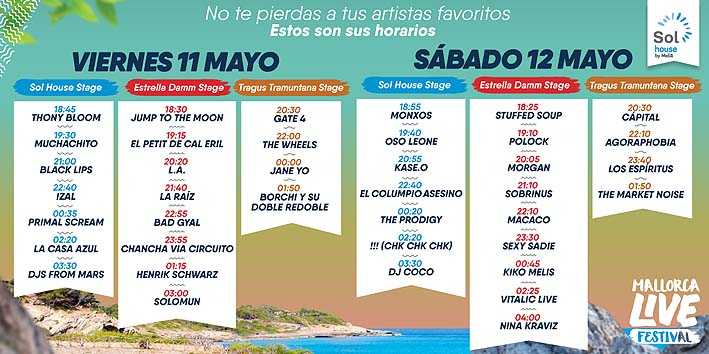 Horario Mallorca Live Festival