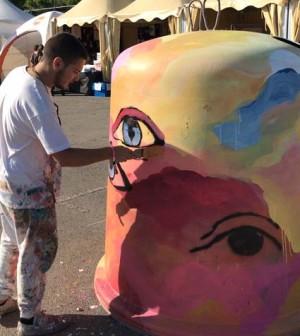 Mister Piro decora campana vidrio MLF 11052018