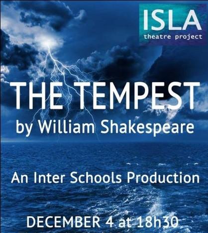 Cartel de 'The Tempest', la obra en inglés que se representará en la Sala Palmanova.