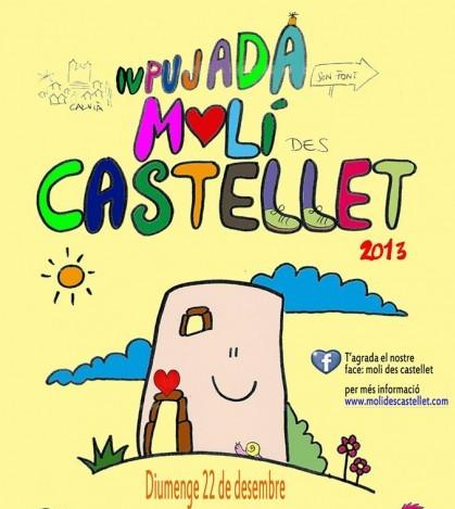 Cartel de la IV Pujada al Molí des Castellet de Calvià