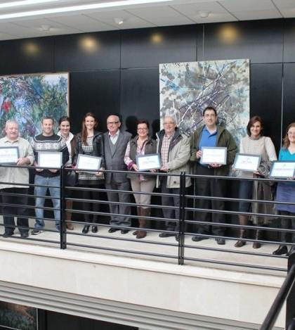 Algunos de los galardonados durante la entrega de diplomas del GinTapa.