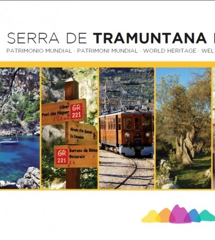 La portada del folleto sobre la Serra de Tramuntana