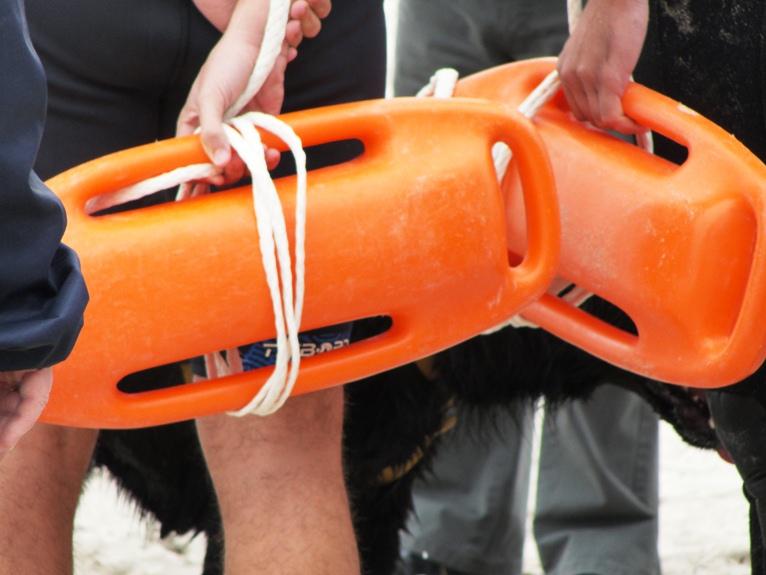 Material de salvamento utilizado en las playas.