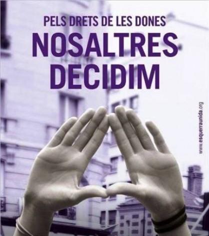 Cartel sobre la conferencia de EU Calvià sobre la Ley del Aborto.
