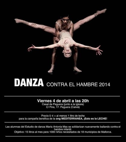 Cartel de Danza contra el hambre 2014