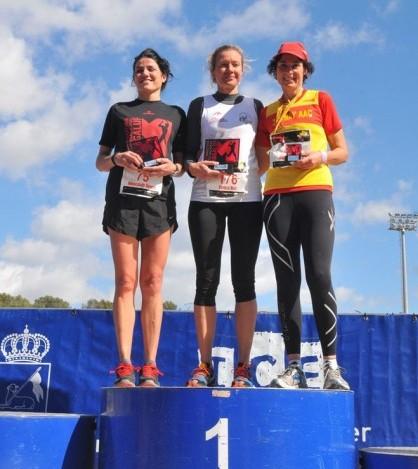 El podio femenino del Maratón de Magaluf