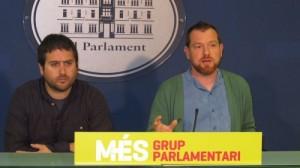 Rafael Sedano y David Abril en el Parlament de les Illes Balears