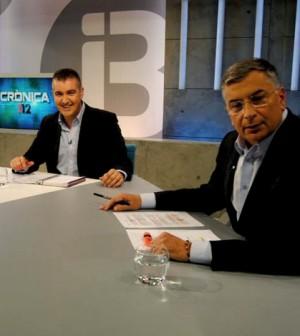 Programa de IB3 Crònica 112 con Julio Bastida y Tomeu Terrasa