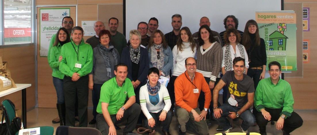 Foto de familia de los artífices de este proyecto de ahorro energético en Calvià