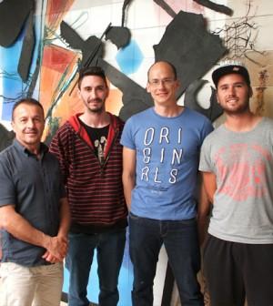 David Collado, Francisco Delgado, David Riera y Gregorio Rodríguez