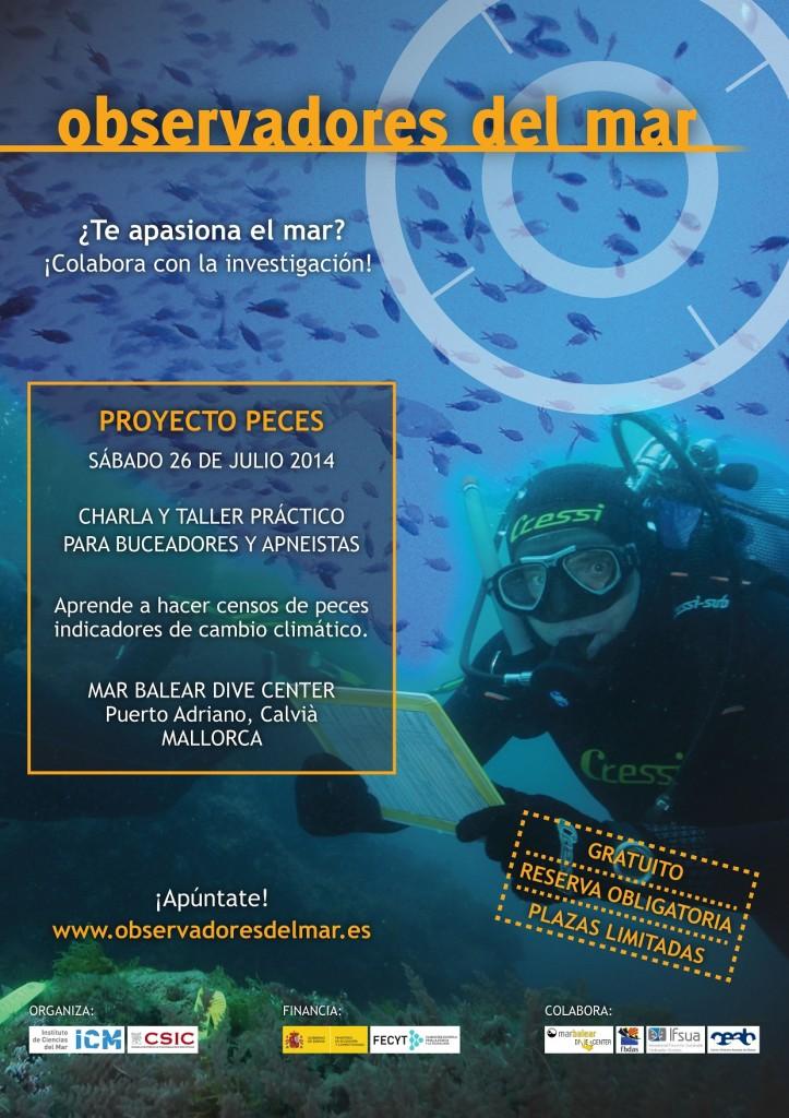 Cartel de la Jornada Peces de Observadores del Mar